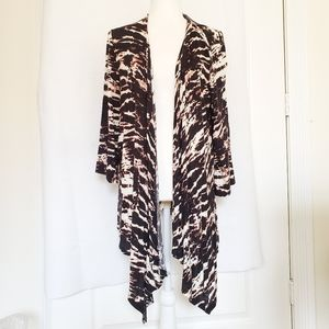 Style&Co duster sweater cardigan cover up tie dye